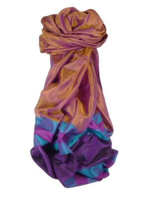 Varanasi Border Prime Silk Long Scarf Heritage Sandeep 300 by Pashmina & Silk