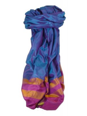 Varanasi Border Prime Silk Long Scarf Heritage Sandeep 302 by Pashmina & Silk