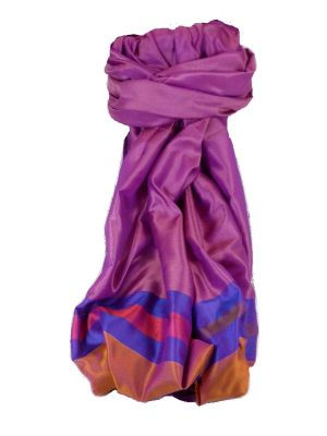 Varanasi Border Prime Silk Long Scarf Heritage Sandeep 303 by Pashmina & Silk