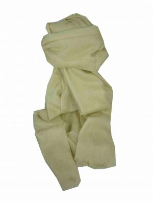 Finest Cashmere Damask Weave Ring Stole in Cream by Pashmina & Silk