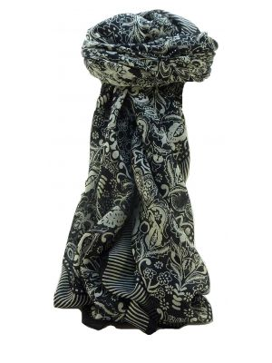 Mulberry Silk Contemporary Square Scarf Floral F220 by Pashmina & Silk