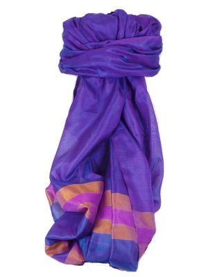 Varanasi Border Prime Silk Long Scarf Heritage Sandeep 304 by Pashmina & Silk