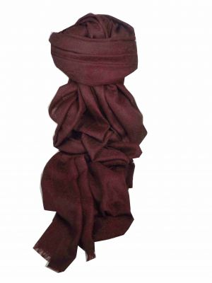 Finest Cashmere Damask Weave Ring Stole in Plum by Pashmina & Silk