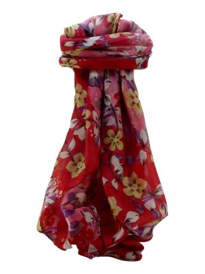 Mulberry Silk Contemporary Square Scarf Floral F221 by Pashmina & Silk
