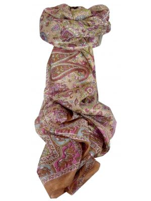 Mulberry Silk Traditional Long Scarf Kirin Gold by Pashmina & Silk