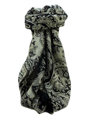 Mulberry Silk Contemporary Square Scarf Floral F222 by Pashmina & Silk