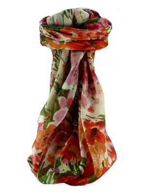 Mulberry Silk Contemporary Square Scarf Floral F225 by Pashmina & Silk