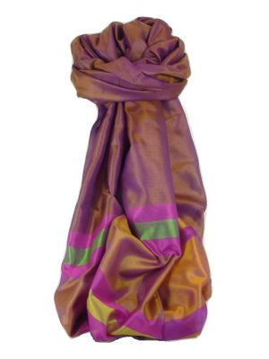 Varanasi Border Prime Silk Long Scarf Heritage Sandeep 310 by Pashmina & Silk