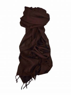 Angora Loose Weave Pashmina Brown by Pashmina & Silk