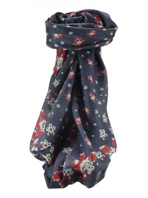 Mulberry Silk Contemporary Square Scarf Floral F227 by Pashmina & Silk
