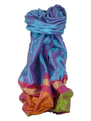 Varanasi Border Prime Silk Long Scarf Heritage Sandeep 311 by Pashmina & Silk