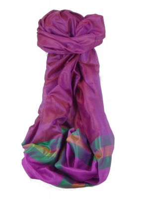 Varanasi Border Prime Silk Long Scarf Heritage Sandeep 312 by Pashmina & Silk