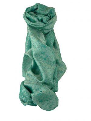 Vietnamese Silk Scarf Reversible Hoi-An Xen-Ban Celadon by Pashmina & Silk