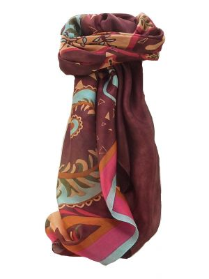 Mulberry Silk Contemporary Square Scarf Floral F229 by Pashmina & Silk