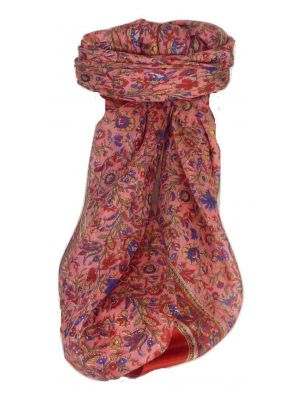 Mulberry Silk Traditional Square Scarf Irma Scarlet by Pashmina & Silk