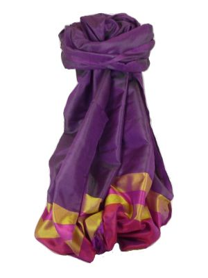 Varanasi Border Prime Silk Long Scarf Heritage Sandeep 314 by Pashmina & Silk