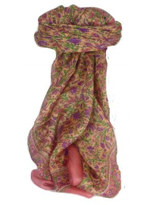 Mulberry Silk Traditional Square Scarf Irma Rose by Pashmina & Silk