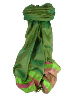 Varanasi Border Prime Silk Long Scarf Heritage Rampersan 401 by Pashmina & Silk