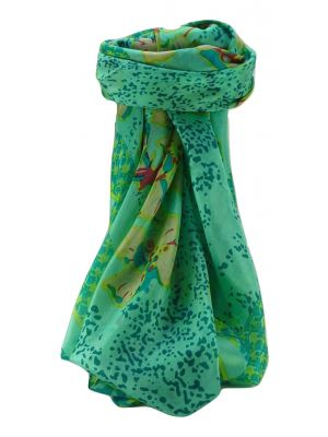 Mulberry Silk Contemporary Square Scarf Floral F234 by Pashmina & Silk