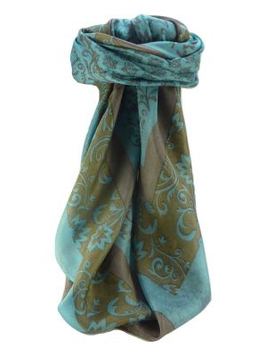 Mulberry Silk Contemporary Square Scarf Floral F236 by Pashmina & Silk