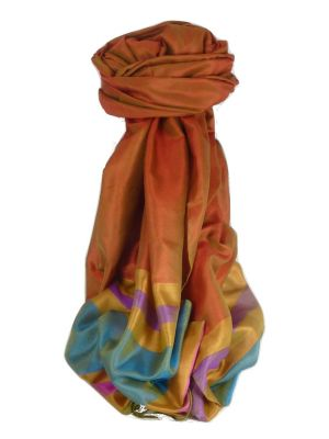 Varanasi Border Prime Silk Long Scarf Heritage Rampersan 405 by Pashmina & Silk