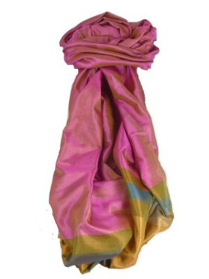 Varanasi Border Prime Silk Long Scarf Heritage Rampersan 406 by Pashmina & Silk
