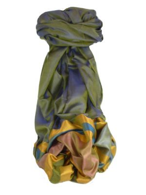 Varanasi Border Prime Silk Long Scarf Heritage Rampersan 407 by Pashmina & Silk