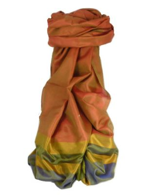 Varanasi Border Prime Silk Long Scarf Heritage Rampersan 409 by Pashmina & Silk
