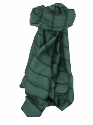 Mens Vietnamese Long Silk Scarf Hue Slate by Pashmina & Silk