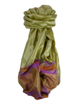 Varanasi Border Prime Silk Long Scarf Heritage Rampersan 411 by Pashmina & Silk