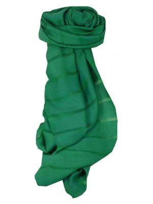 Vietnamese Long Silk Scarf Hue Weave Teal by Pashmina & Silk