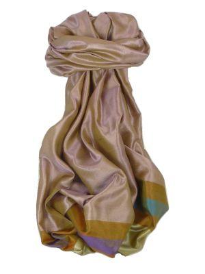 Varanasi Border Prime Silk Long Scarf Heritage Rampersan 412 by Pashmina & Silk