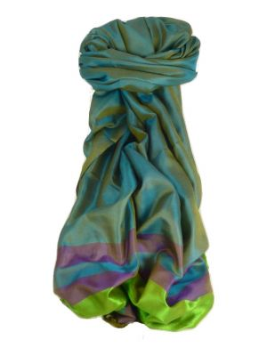 Varanasi Border Prime Silk Long Scarf Heritage Rampersan 413 by Pashmina & Silk
