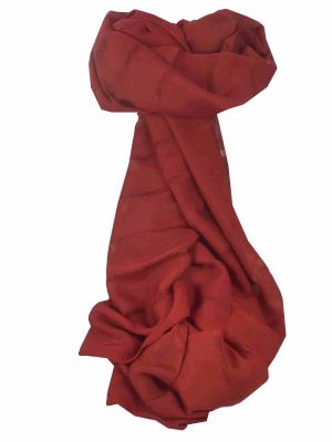 Mens Vietnamese Long Silk Scarf Hue Wine by Pashmina & Silk