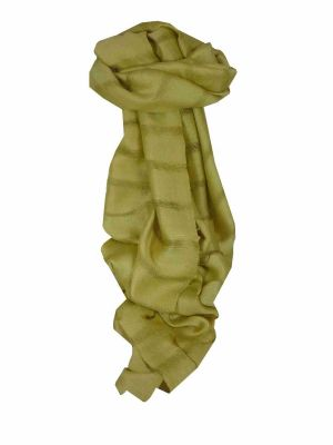 Mens Vietnamese Long Silk Scarf Hue Celery by Pashmina & Silk