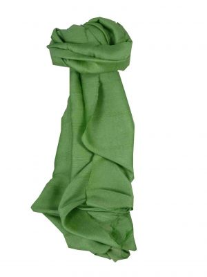 Vietnamese Long Silk Scarf Hue Weave Sage by Pashmina & Silk