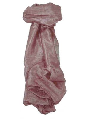 Pure Raw Silk Long Scarf Saigon Lua Van Weave Amethyst by Pashmina & Silk
