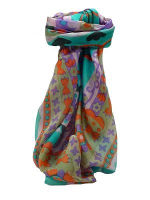 Mulberry Silk Contemporary Square Scarf Geometric G120 by Pashmina & Silk