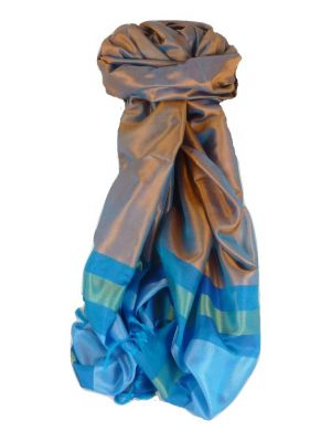 Varanasi Border Prime Silk Long Scarf Heritage Dasgupta 510 by Pashmina & Silk