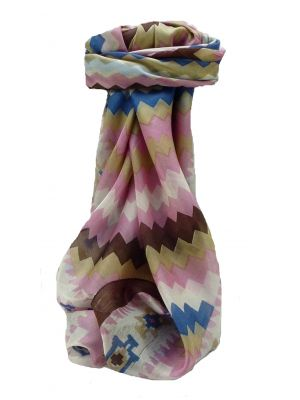 Mulberry Silk Contemporary Square Scarf Geometric G121 by Pashmina & Silk