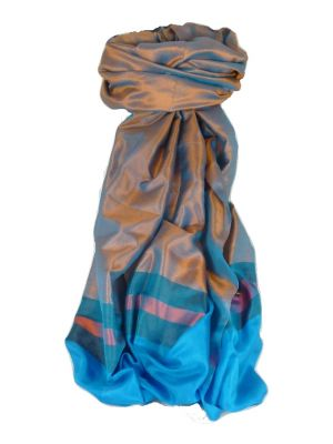 Varanasi Border Prime Silk Long Scarf Heritage Dasgupta 514 by Pashmina & Silk
