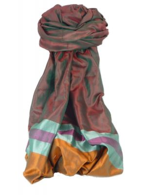 Varanasi Border Prime Silk Long Scarf Heritage Swami 600 by Pashmina & Silk