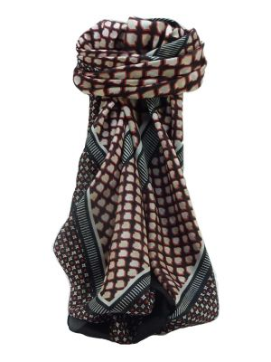 Mulberry Silk Contemporary Square Scarf Geometric G129 by Pashmina & Silk