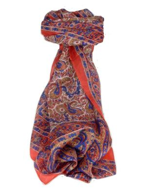 Mulberry Silk Traditional Long Scarf Dhobi Blush by Pashmina & Silk