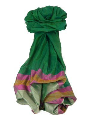 Varanasi Border Prime Silk Long Scarf Heritage Swami 601 by Pashmina & Silk
