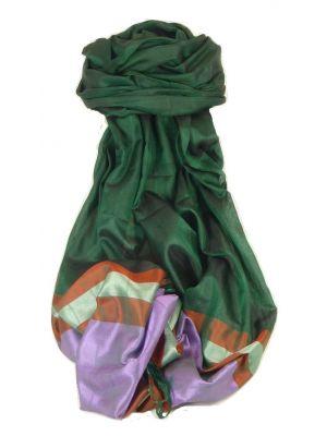 Varanasi Border Prime Silk Long Scarf Heritage Swami 603 by Pashmina & Silk