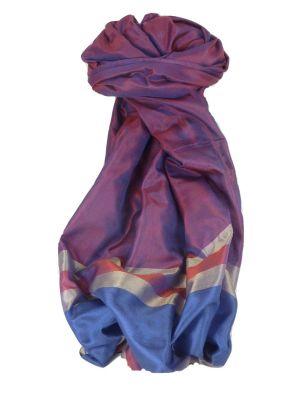 Varanasi Border Prime Silk Long Scarf Heritage Chaudry 800 by Pashmina & Silk
