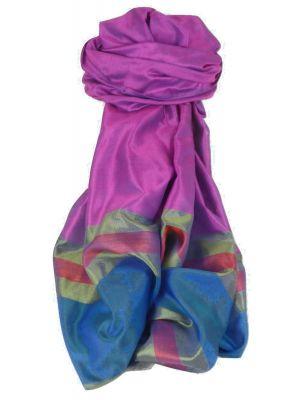 Varanasi Border Prime Silk Long Scarf Heritage Chaudry 802 by Pashmina & Silk