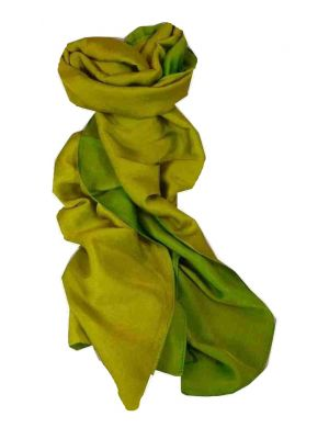 Vietnamese Cham-Pa Reversible Long Silk Scarf Emerald by Pashmina & Silk