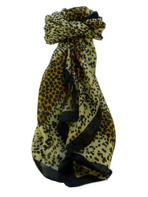 Mulberry Silk Contemporary Square Scarf Markle Black by Pashmina & Silk
